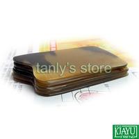 Free shipping! 5pieces/lot! Wholesale Beauty & Health Square Massage Guasha Board 100% yellow Ox Horn gift bag & gua sha chart