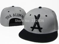 Brand Tha Alumni snapback caps 2014 cheap Gray black snap back hats New hip hop fashion baseball cap men's wpmen's sports hat
