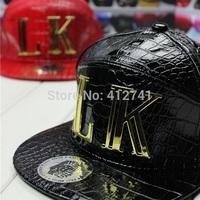 2014 New Leather Pu LK Baseball Hats Men/Women's Leisure Hat Dancer Caps Snapback Outdoor Sun Hats WC-246
