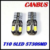 T10 8SMD 5730 5630  led White CANBUS Error Free Interior Car W5W 8 LED Light Bulb Lamp