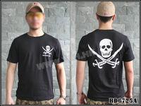 Cheap Free Shipping Men's T-shirts Tactical Loose Short Sleeve Printing Hiking Camping Military T-shirts