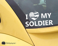 I love my Soldier car decal sticker marine core, Navy, Coast Guard and Air Force,funny car stickers