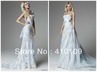 New design blue lace Wedding Dresses