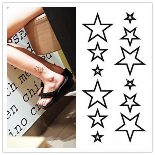 Stars stencils tattoos design