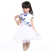 2014 summer children's clothing girls dress Chinese style  Suitable for 4 to 14 years