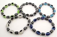 Wholesale 50 pcs Mixed color fashion elastic beaded bracelet Free shipping