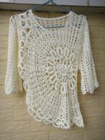 White Women Blouse Crochet Tops Summer Fashion Clothing