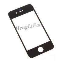 By DHL 100pcs Top Front Glass Outer Glass Lens Cover for iPhone 4 4S 4G Balck & White Free Shipping