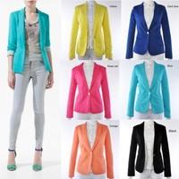 hot sale women coat women suit blazer foldable brand jacket women clothes suit one button shawl cardigan coat