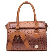 New ostrich pattern women handbag crossbody bag fashion shoulder bag hot sale bolsas top PU leather women messenger bags 2015