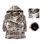 Freeshipping Autumn winter fashion Children wind coat girl's jacket outwear kids thick wind coat children jacket coat
