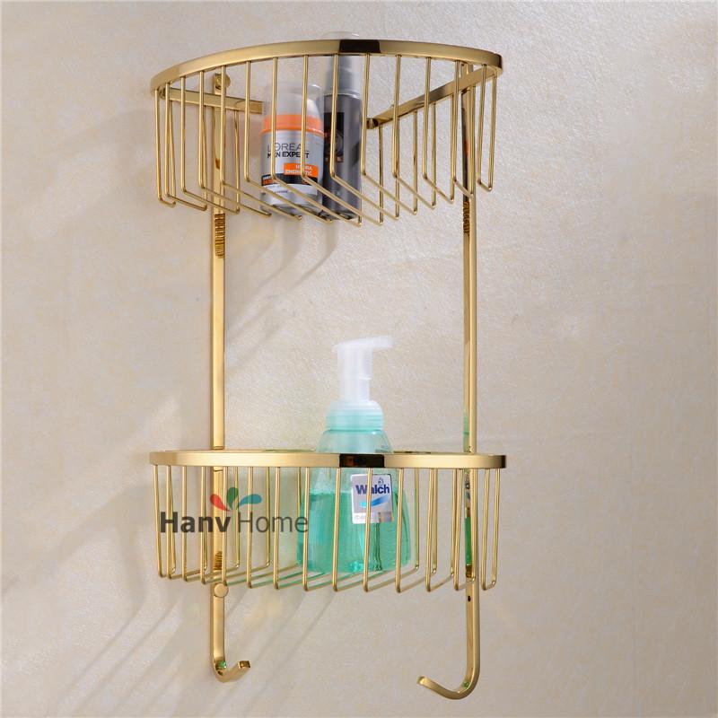 capas-dorado-de-acero-inoxidable-plataforma-de-baño-con-gancho-del ...