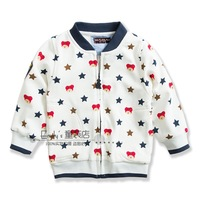 Children's clothing new arrival 2014 bear child cotton 100% single tier outerwear male child baby Jackets & Coats