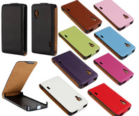 Colored Luxury Flip Leather Magnetic Case Cover For LG Optimus L5 II E450 E460 Free Shipping