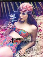 Popular 2014 Swimsuits High Waist Bathing suit For Women Swimwear Bikinis Set Free Shipping Drop shipping1438B