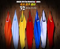 The Brazilian World Cup 2014 32 countries T-shirt class cotton shirt