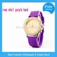 DHL Free Shipping 50pcs/lot  Fashion Designer Ladies brand diamond silicone watch jelly gold watch quartz watch for women men