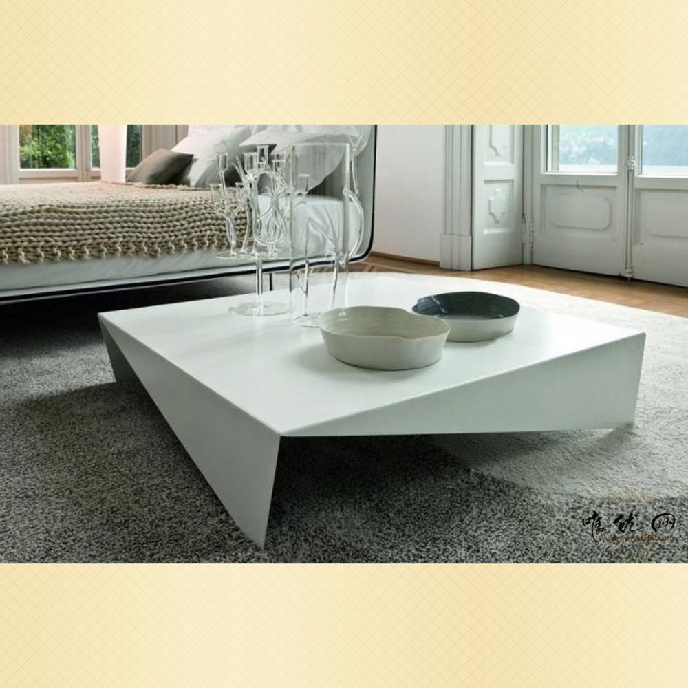 Cheap modern minimalist living room coffee table square a few creative office sofa table fashion white square table(China (Mainland))