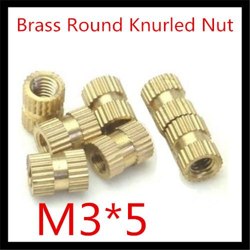 Резьбовая муфта Brass Round Nut 1000 /3 * 5 M3*5