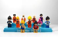 2014 Crazy Party Dragonball Z GT Action Figures 11PCS/Set  Cute  Dragon Ball Goku/Buu Building Blocks Best Gift Free Shipping