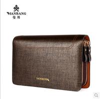 Big size clutch Men cow leather wallet+luxury clutch wallet big size clutch+whole sale or retail+Hot sale wallet MBS0004G