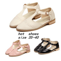 2014 Summer Flat Heel Sandals For Women Round Toe Comfortable Casual  All-Match Women's Oxfords Flat Shoes FREE SHIPPING