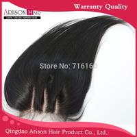 Dhl free shipping 5x5 maysian virgin hair 4 part silk lace closure bleached knots natural straight