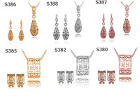 A30 // Big promotion Factory Price 18k gold plated sets, wholesale fashion gold jewelry hot sale Earring Necklace sets