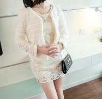 women winter autumn black pink white Faux for Fur coat ladies short European style slim elegant hot sale jacket