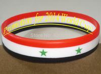 Promotional SYRIA Flag Stripe Silicone Wristband/Bracelet