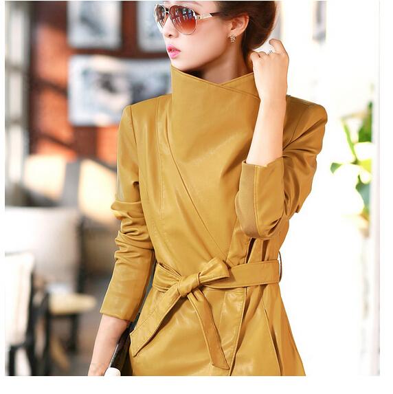 Женская Одежда Кожанные Пальто