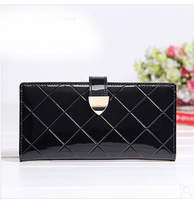2014 New Genuine leather women wallets Fashion lady purse brand design High Quality women carteira,Patent Leather woman bags