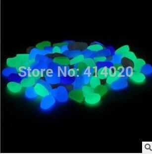 200Pcs/Lot 2-3 CM Home Decor Diy Material Fish Tank Glow Aquarium Decorative Landscaping Pebbles Bright luminous Stone Resin(China (Mainland))