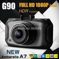 "2014 Newest Ambarella A7 Car DVR Video Recorder Dash Camera G90 HDR 1920*1080P 30FPS 2.7""LCD G-Sensor 170 Degree Night Vision"