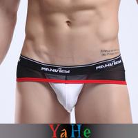 Low-waist Male Sexy Panties Transparent Gauze Panties Ultra-thin Men Briefs YAHE Brand New MU1004A 3 pcs/lot Wholesales