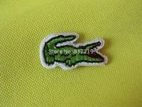 Small size 2.6*1.4cm  iron on patch patchs Crocodile Alligator  Applique Badge (100pcs a lot) badges good quality