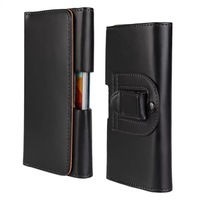High Quality Wallet Leather Case With Belt Clip Holster For Samsung Galaxy S5 SV I9600 Mobile Phone Waist Bag Free Shipping