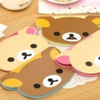 12pcs/lot Creative Stationery Cute Cartoon Bear Paper Notepad Memo Pad Diary Books Notebook School Promotion Gift Wholesale