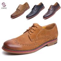 2014 Brand Classic men's Oxfords shoes Best quality Dress Business shoes flats men genuine leather shoes british style shoes