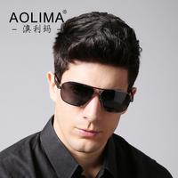 Authentic men sunglasses polariscope Hipster men sunglasses lens polarized sunglasses frog mirror driver