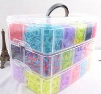 1sets new 2014 Three layer loom kit box Loom rubber bands Kit knitting machines Children fun loom