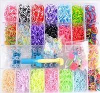 1set 3000rubbers new 2014 loom kit box Loom rubber bands Kit knitting machines Children fun loom
