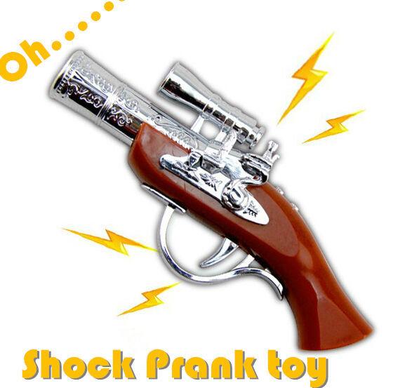 Elimi Creative Electric Shocker Gun Toy Novelty Electric Joke Toy Free Shipping(China (Mainland))