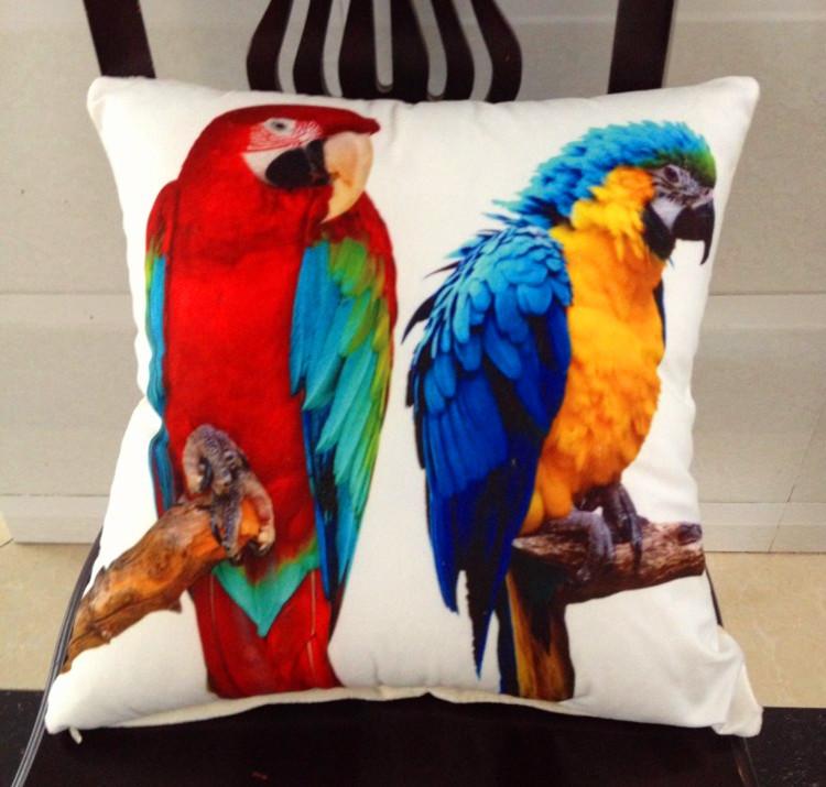 Nova sofa decor papagaio dos desenhos animados travesseiro cobre Polly decoração colorida fronha casamento cover presentes cuhsion cobre(China (Mainland))