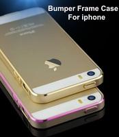 Ultra Thin Slim Aluminium Metal Bumper Frame Hard Cover Case for Apple iphone 5 5S, Metal Phone Case
