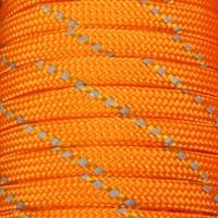 Freeshipping orange Reflective Paracord 550 Parachute Cord Lanyard Rope Mil Spec Type III 9 Strand 100 FTumbrella rope