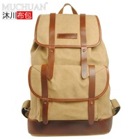 freeshipping 2014 new real normal camping & hiking canvas\leather women and men's tactical \school\duffel\travel backpack bags