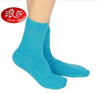 China Famous Brand LangSha Women's Winter Comfortable Casual Long Cotton Socks Blue/Pink/Black  Color Sent By Random