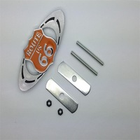 Free delivery network standard in automotive metal modified for Cadillac for / ROUTE US66 commemorative logo