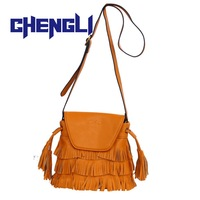 GB1058 HOT fashion bag brand Tassel Shoulder Bag Womens clutch leather bags lady totes Messenger Bag Free Shipping